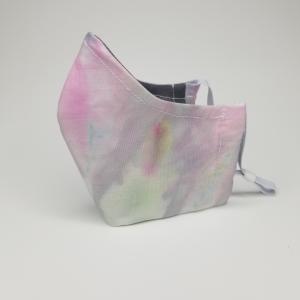 Purple/pink tie dye mask