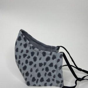 Grey animal print mask