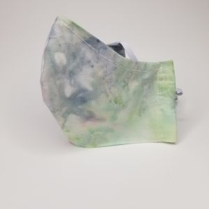 Blue/green tie dye mask