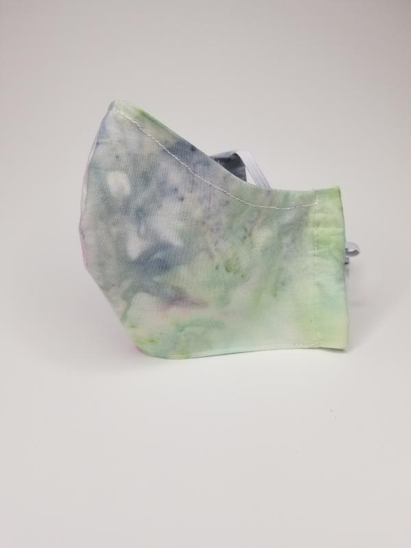 Blue/green tie dye mask