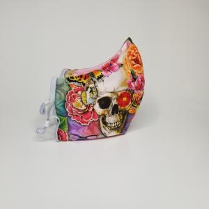 Flower skull mask