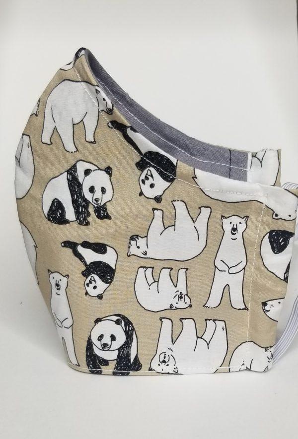 Panda, polar bears mask
