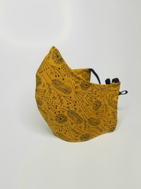 Mustard field flowers mask
